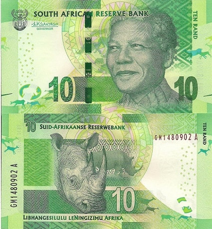 R10 South African Bank Note