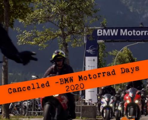 BMW Motorrad 2020 Cancelled